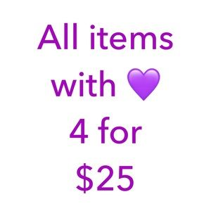 Bundle 4 items with 💜 and I will offer 25$